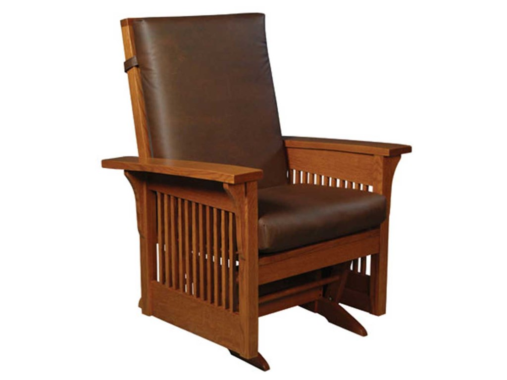 new style 881ef 47a7c Simply Amish Prairie Mission Prairie Mission Lounge Glider ...
