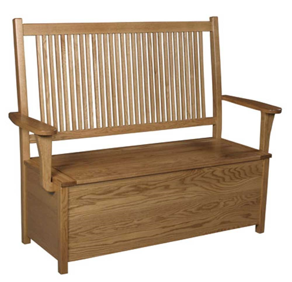 Prairie Mission Prairie Mission Storage Bench By Simply Amish