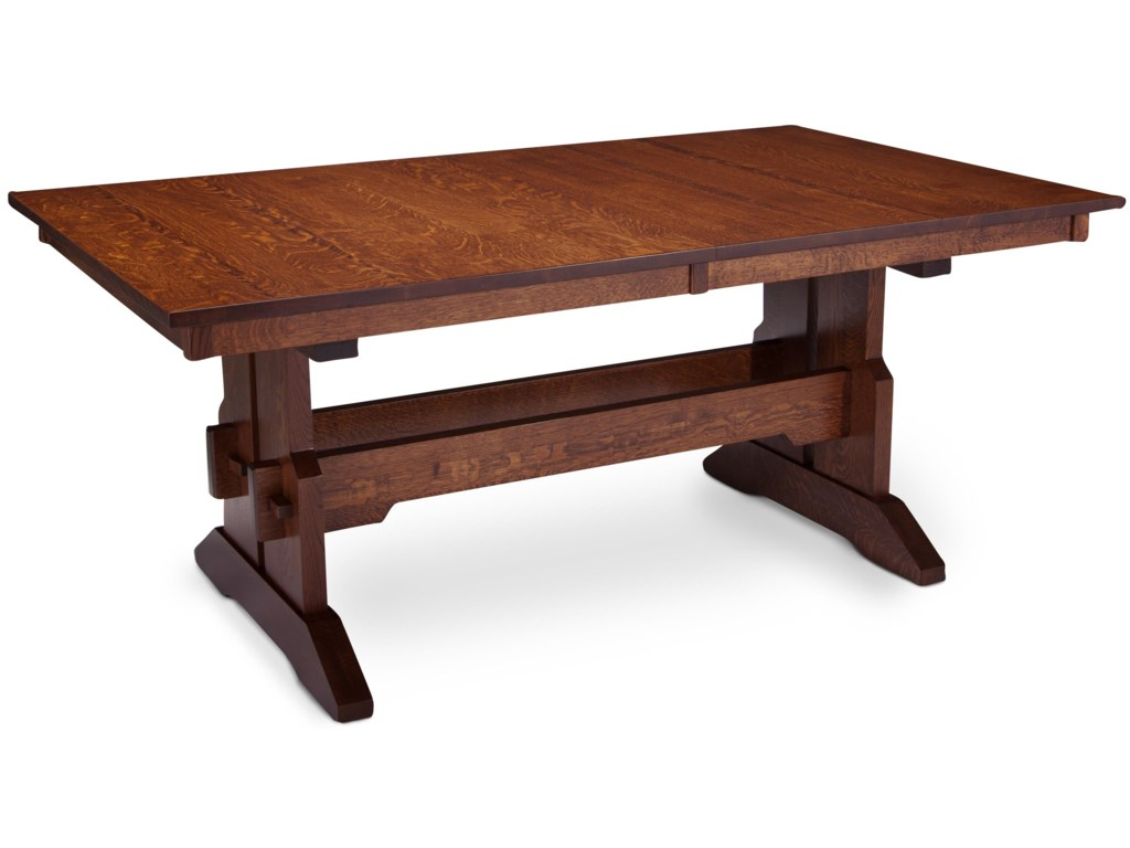 MaRyan Franklin Trestle Table w/ Butterfly Leaf by Simply Amish at Becker  Furniture World
