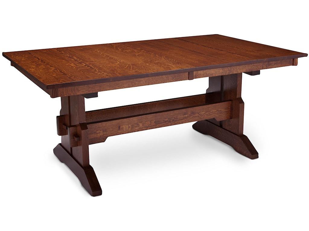 Simply Amish MaRyan MSCT-TT4272-B Franklin Trestle Table w ...