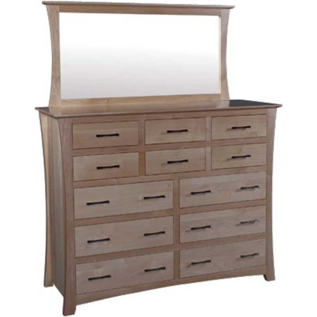 12-Drawer Bureau and Bureau Mirror