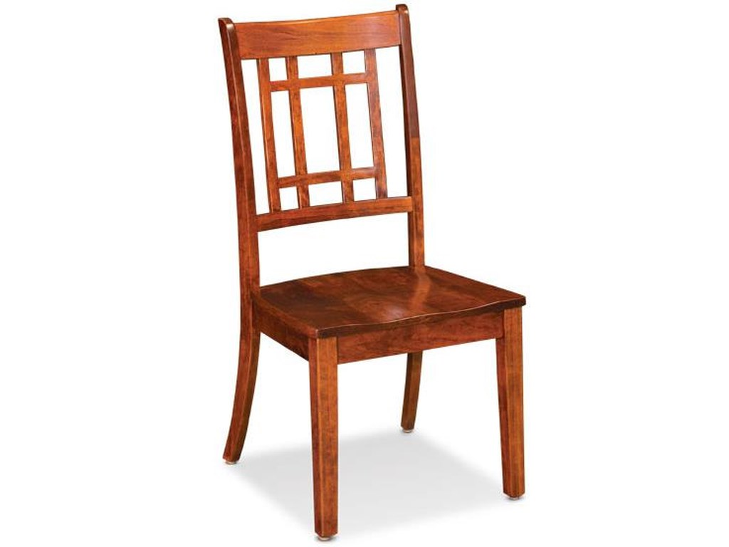 Simply amish shenandoah xk26 eccam 02a w campbell side chair with lattice back dunk bright furniture dining side chair