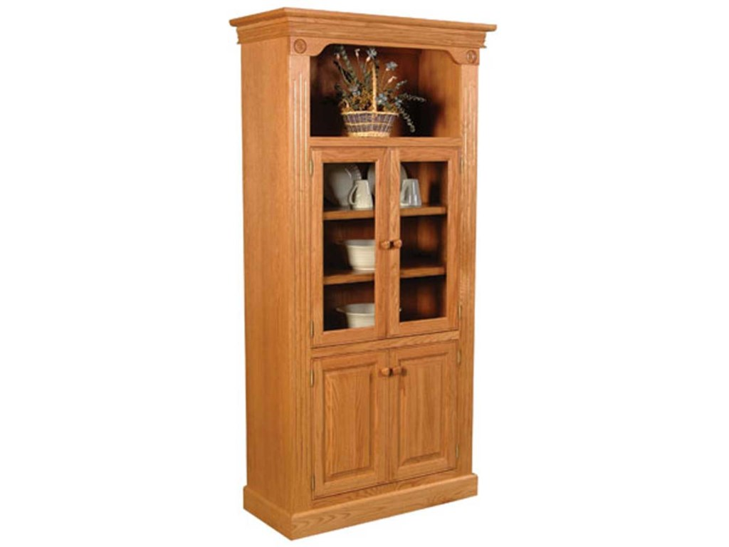 Simply Amish Imperial AmishBookcase w/ Glass Doors