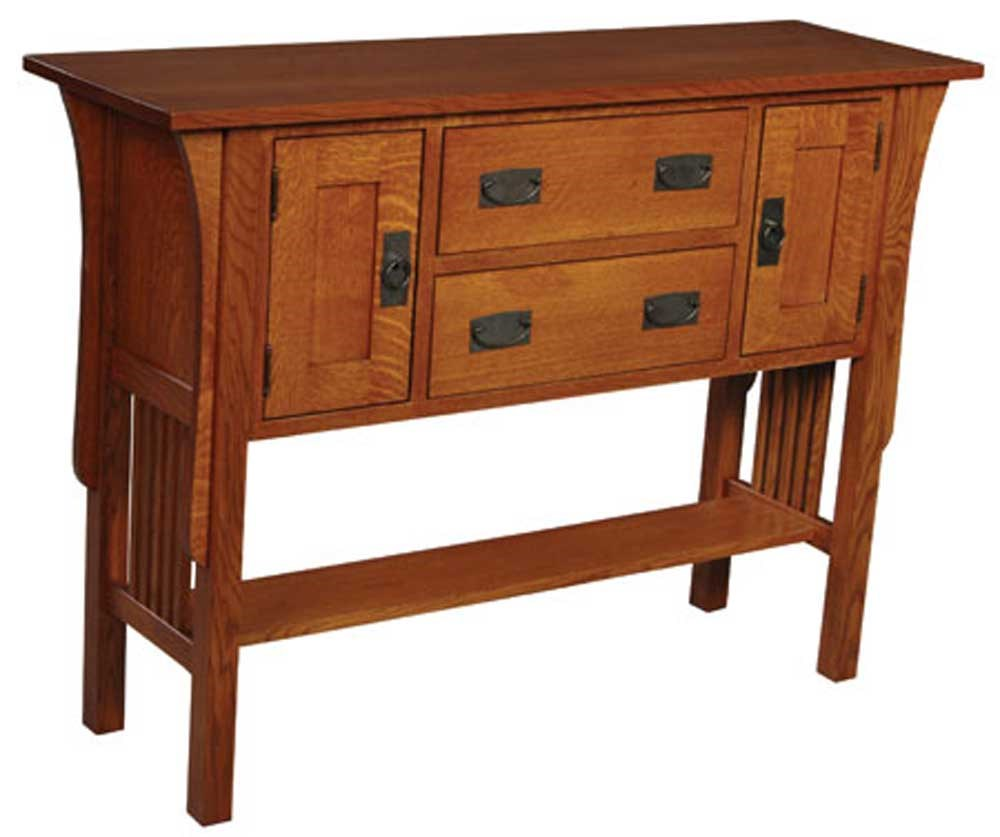Prairie mission prairie mission sideboard by simply amish