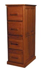 Simply Amish Classic4-Drawer File Cabinet