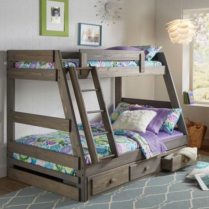 Picture of: Simply Bunk Beds 209 Twin Over Full Bunk Bed Royal Furniture Bunk Beds