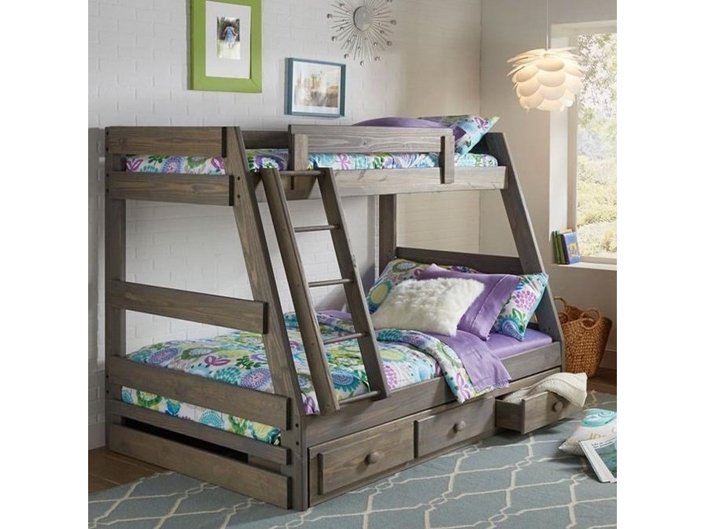Simply Bunk Beds 209Twin Over Full Bunk Bed