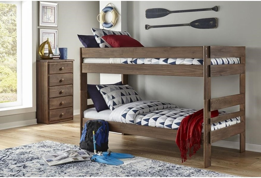 Simply Bunk Beds 602 Twin Over Twin Bink Bed 573 11101 1 575 11101 2 Chestnut Bunk Bed Furniture Fair North Carolina Bunk Beds