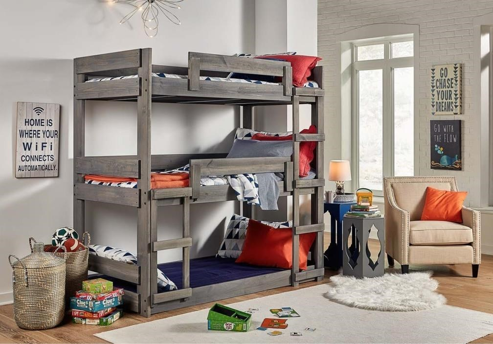 Picture of: Simply Bunk Beds Dakota Triple Bunk Bed Royal Furniture Bunk Beds
