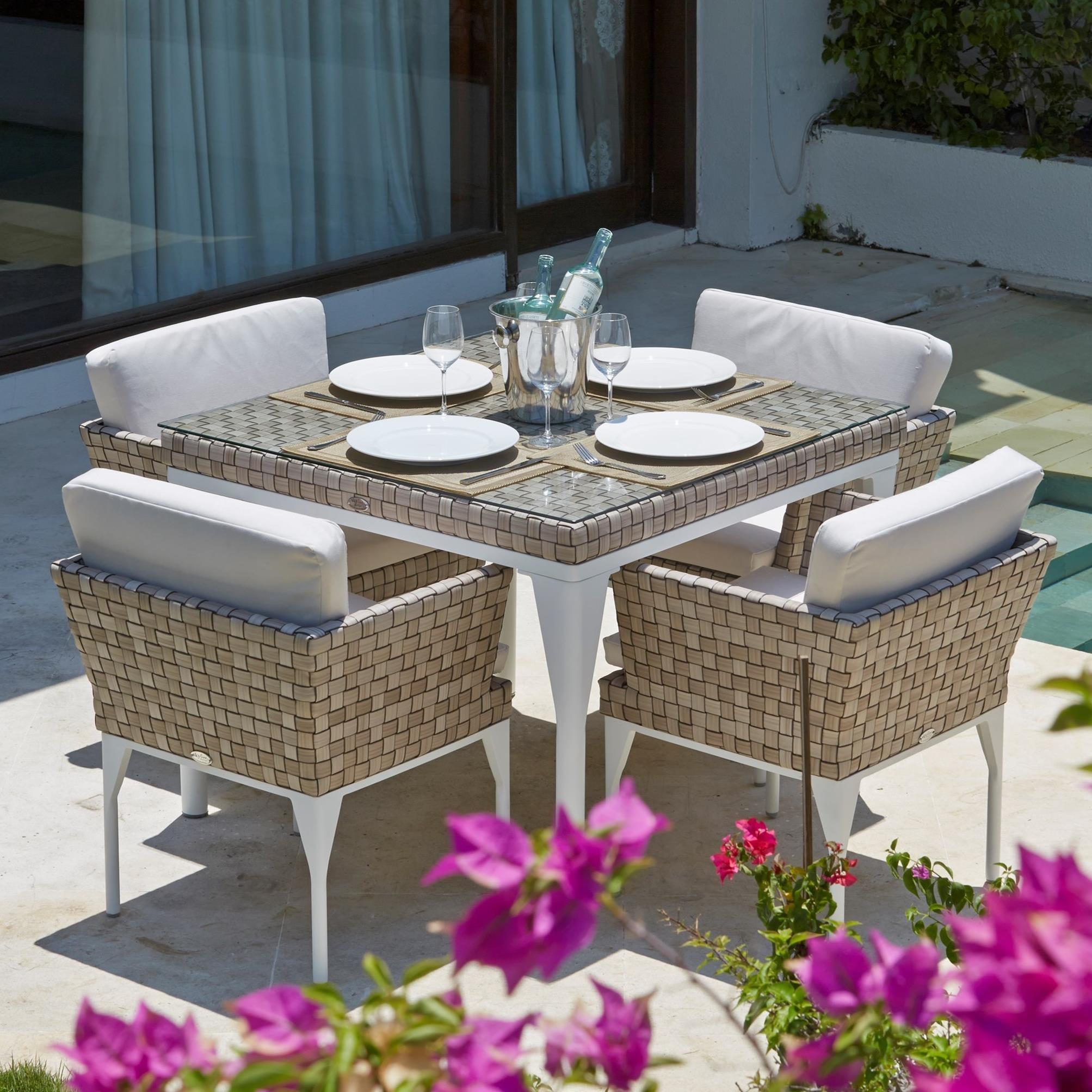 Skyline Design BRAFTA 5 Piece Outdoor Dining Set