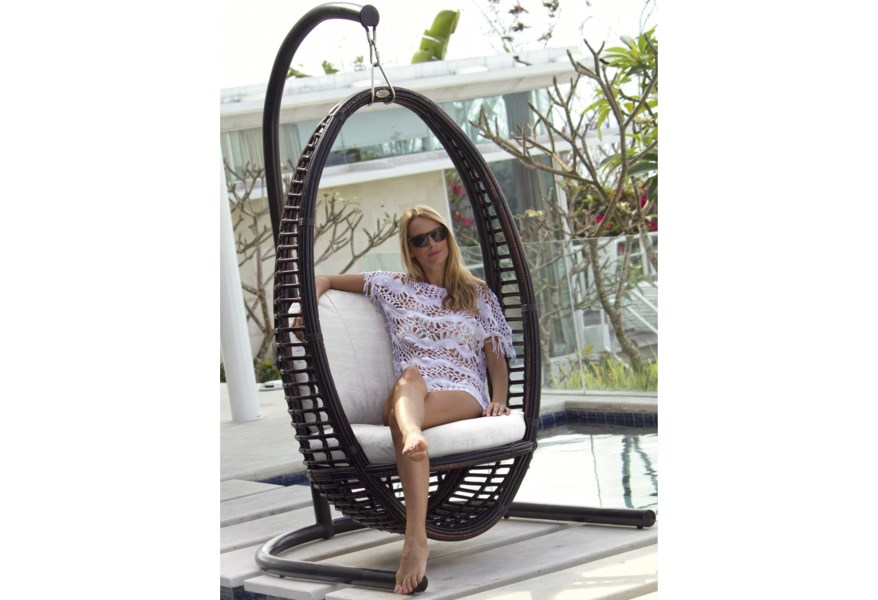 Skyline Design Heri 2972 S C Bmnp Outdoor Hanging Chair With Cushion Baer S Furniture Outdoor Chairs