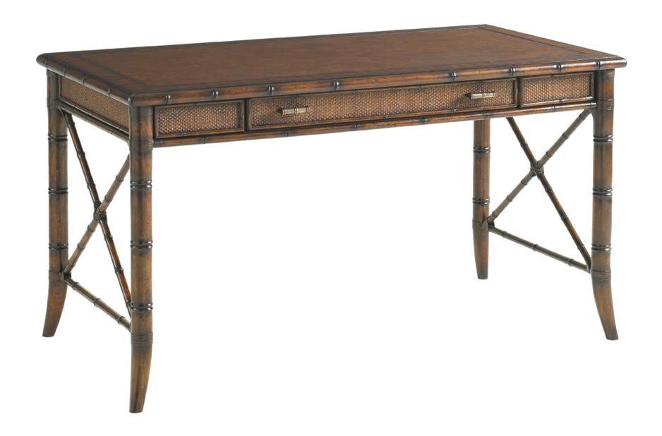dazzling leather by sligh computer handsome top d at desk vintage furniture