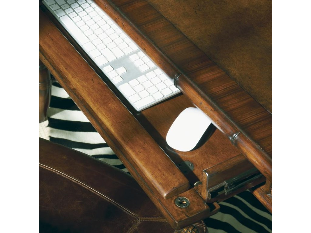 Detail of Drop-Front Drawer with Ergonomic Palm Rest