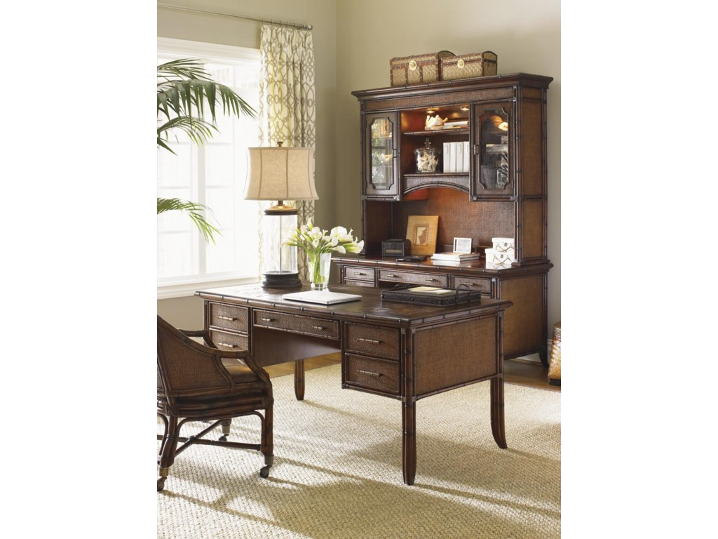 Shown with Paradise Isle Writing Desk and Complete Isle of Palms Credenza and Deck