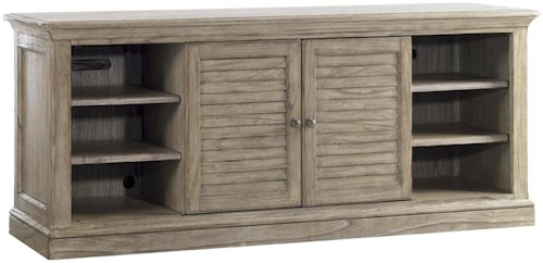 Sligh Barton Creek Bullock TV Console with Swinging Louvered Doors