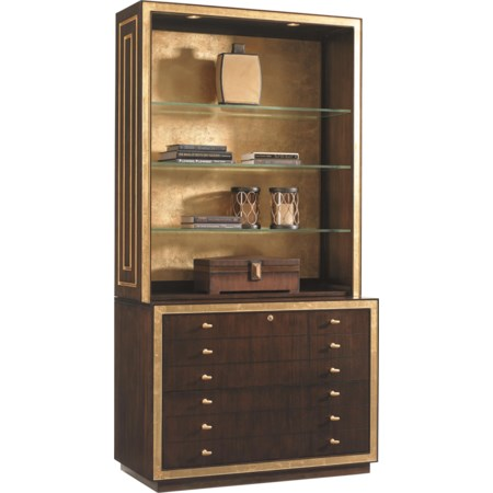 Beverly Palms Deck and File Cabinet Combo