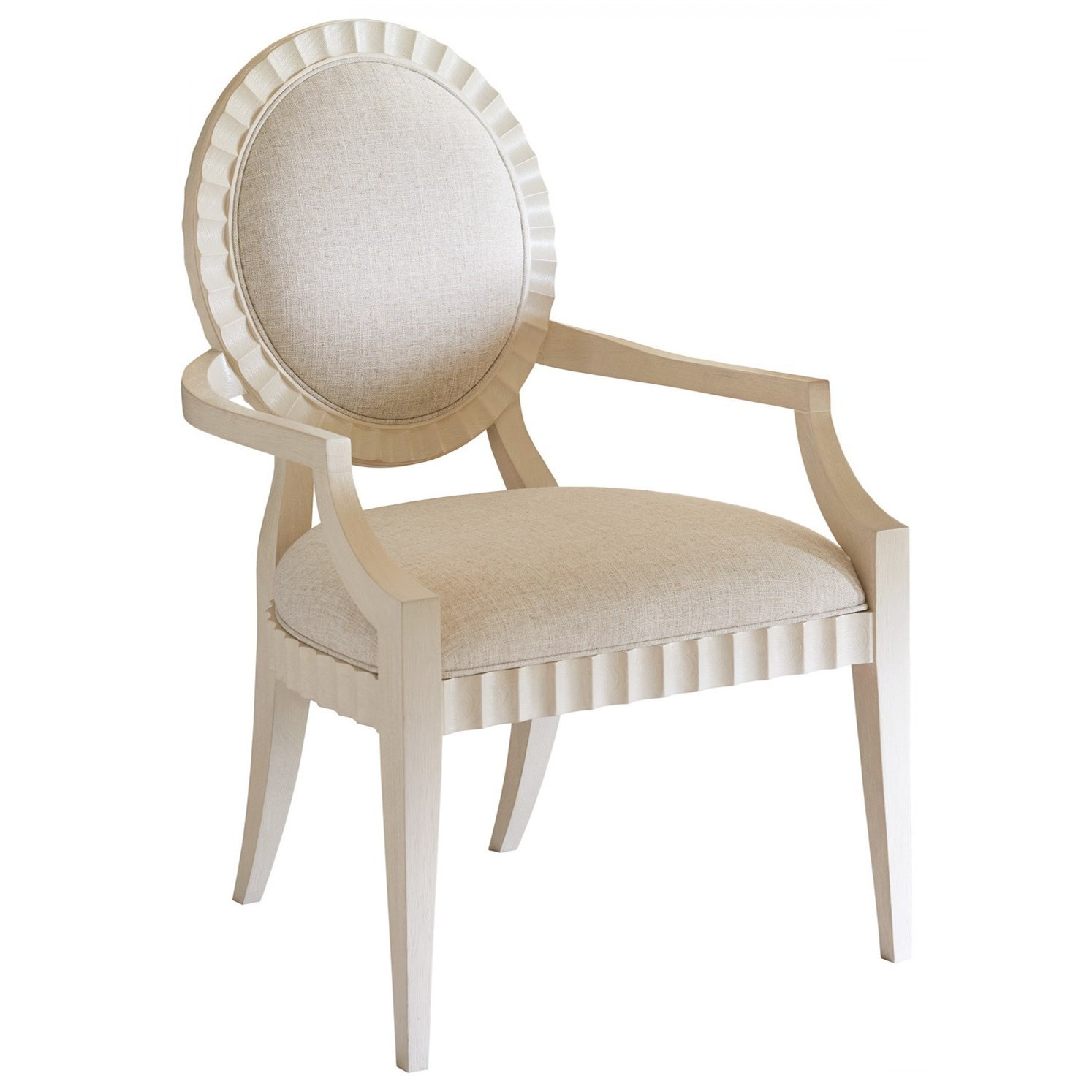 Traditional Gilmore Desk Chair with Upholstered Seat and Back