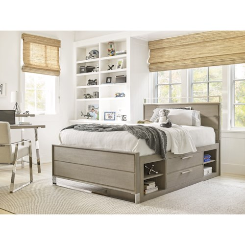Smartstuff Axis Twin Reading Bed with Storage Unit