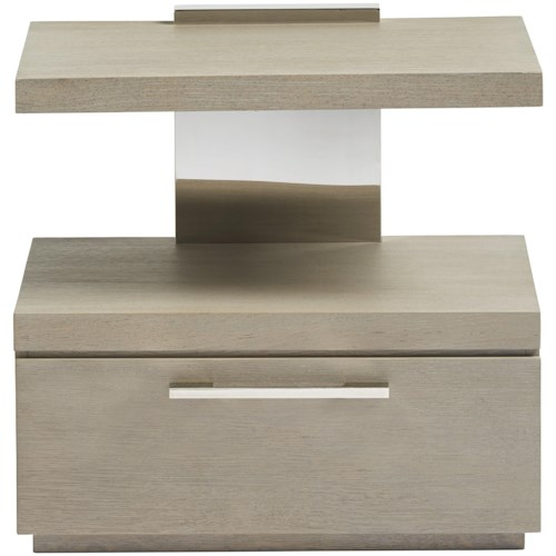 Smartstuff Axis One Drawer Nightstand with Built-in Night Light