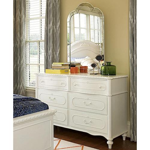 Smartstuff Bellamy Bellamy's Dresser with Venetian Mirror