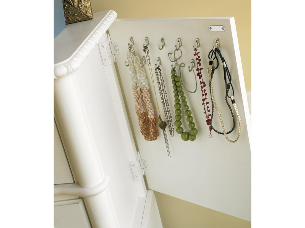 View of Hidden Accessory Hooks