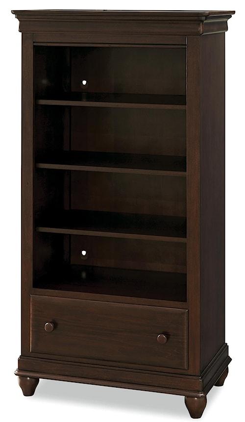Smartstuff Classics 4.0 3-Shelf Bookcase with Bottom Drawer & Cord Management