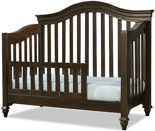 Smartstuff Classics 4.0 Convertible Crib with Toddler Rail and Arched Back