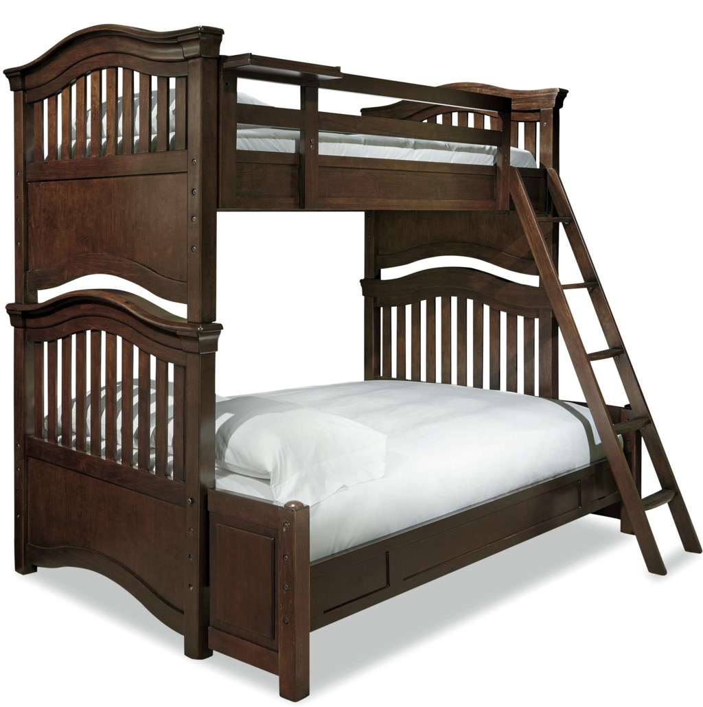 Classics 4 0 Twin Over Full Bunk Bed With Guard Rail Clock Shelf