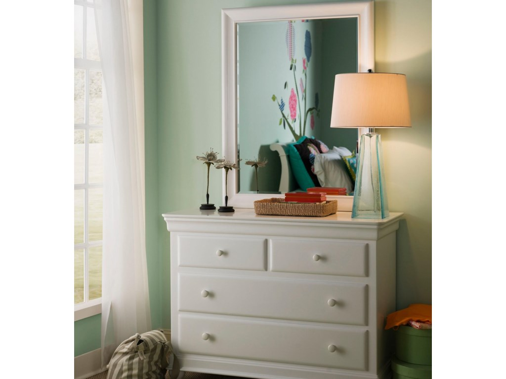 Smartstuff Classics 4.0Single Dresser & Mirror