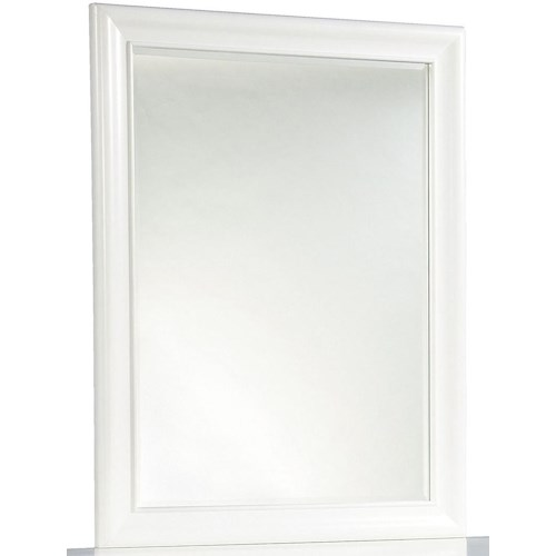 Smartstuff Classics 4.0 Vertical Beveled Edge Mirror with Wood Frame