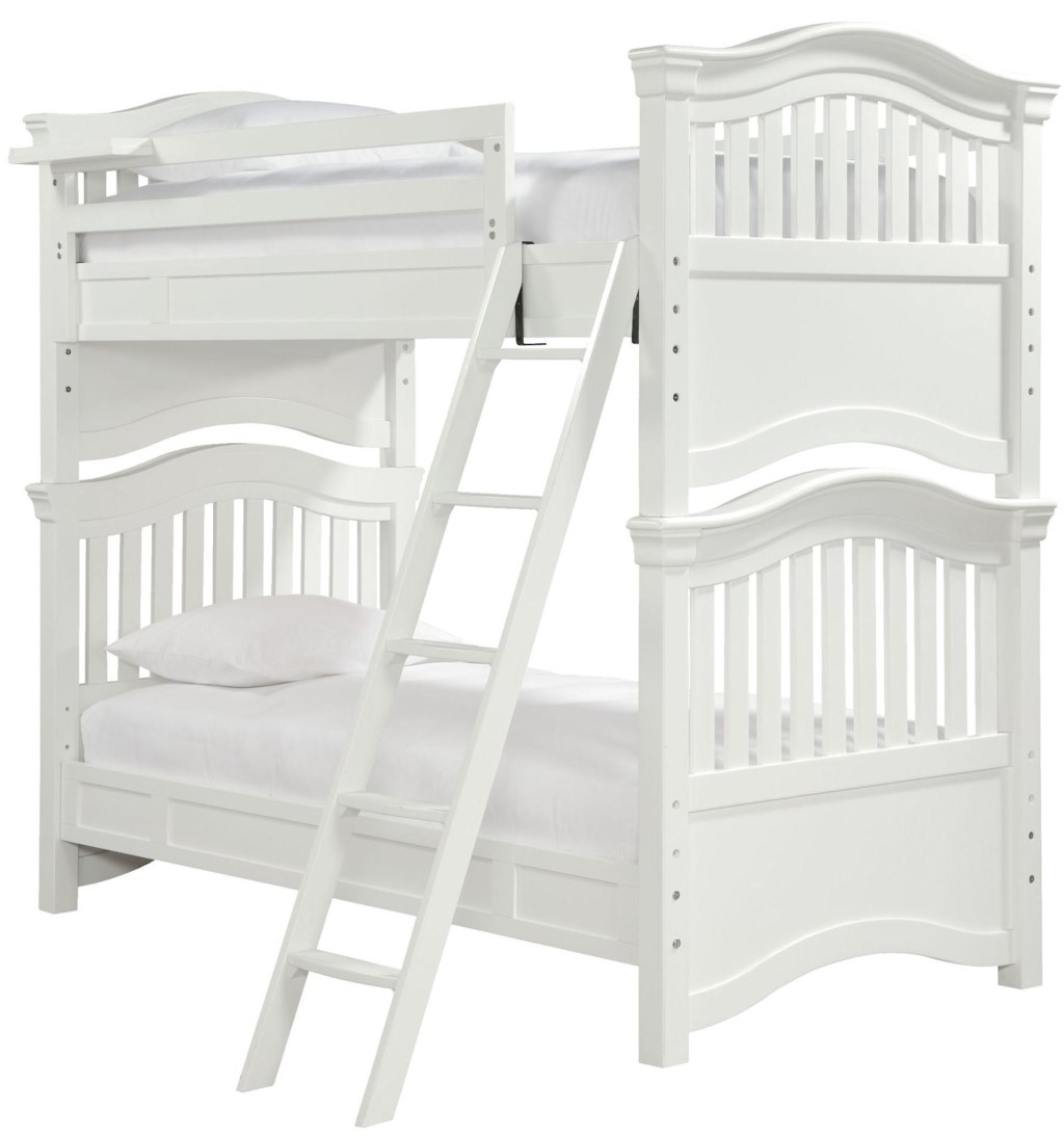 Smartstuff Classics 4 0 Twin Over Twin Bunk Bed With Guard Rail