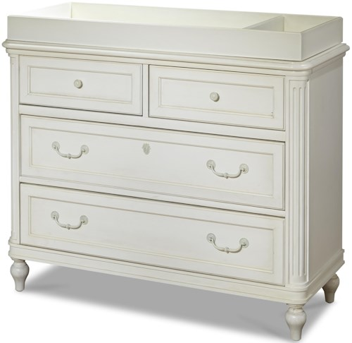 Smartstuff Gabriella 4-Drawer Single Dresser with Changing Station