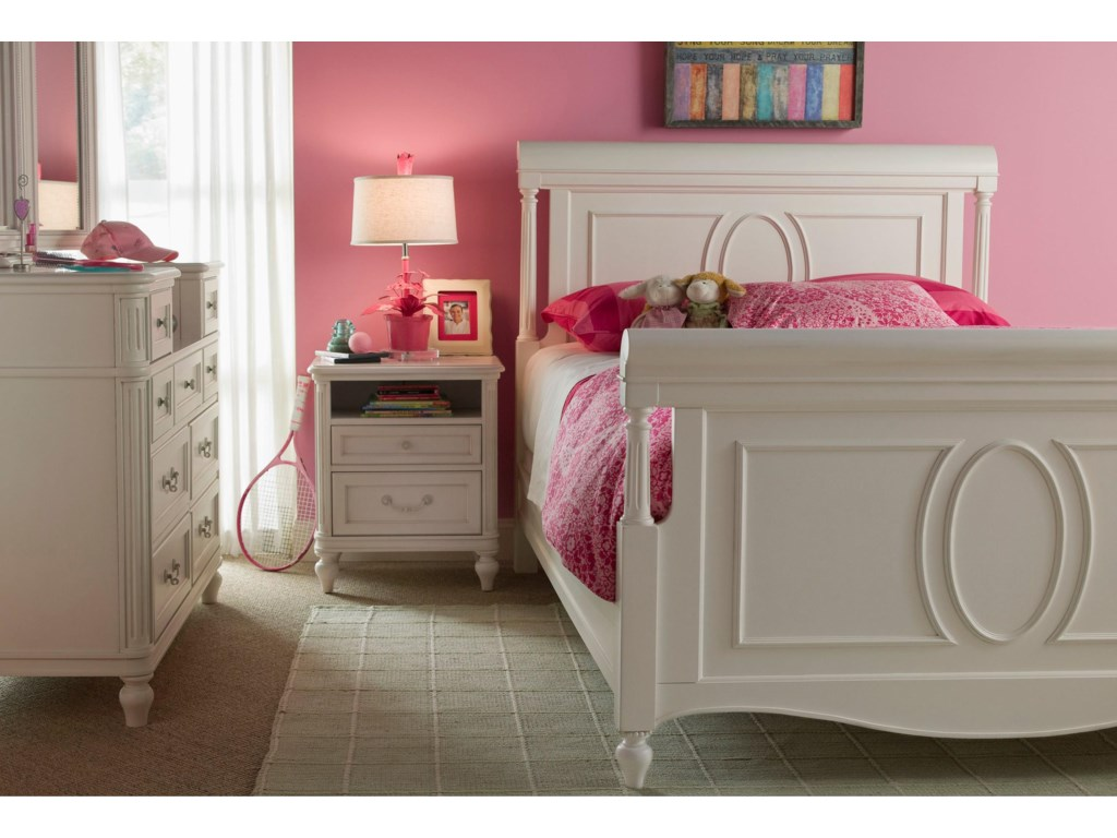 Shown with Dressing Mirror, Nightstand, and Sleigh Bed