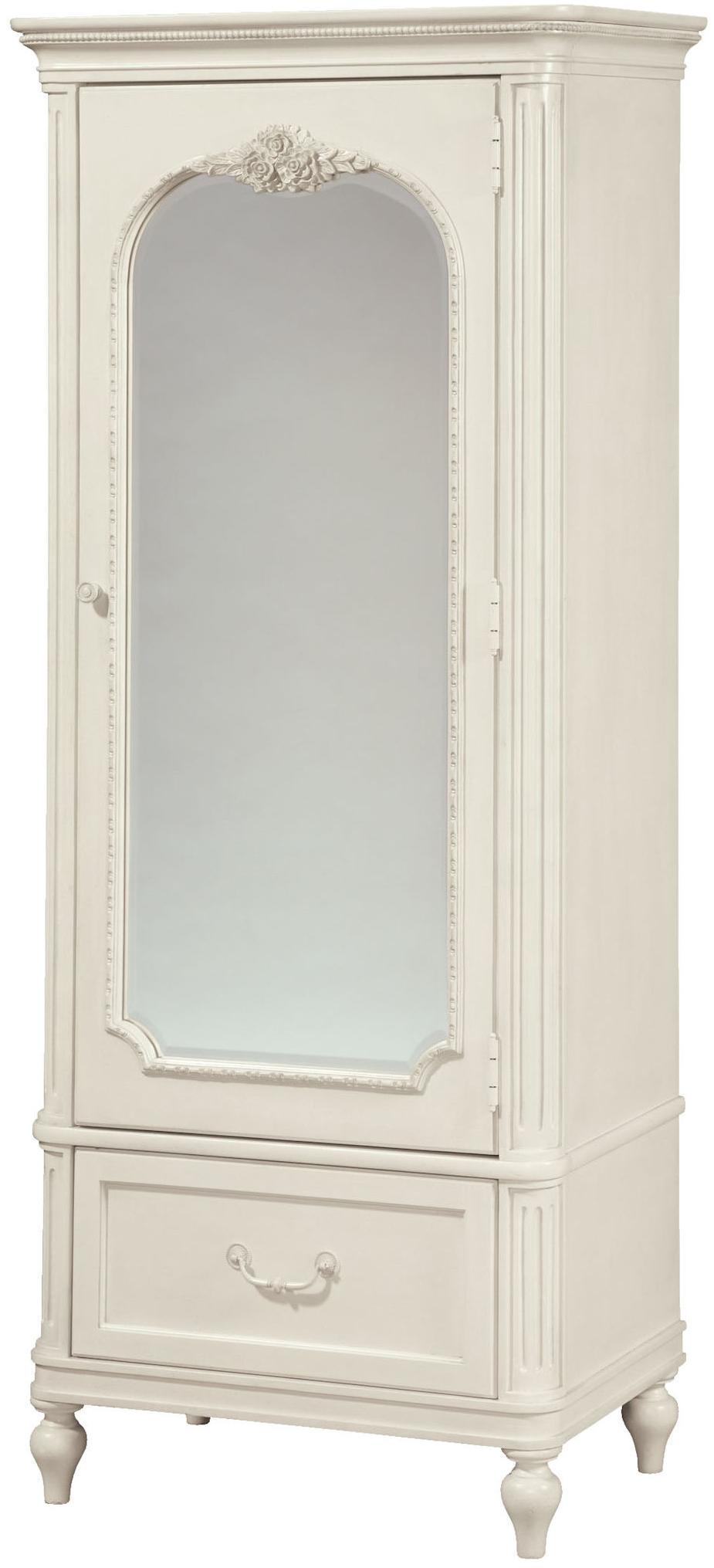 Perfect Smartstuff Gabriella Mirrored One Door Armoire With Cork Board U0026 Variety Of  Storage Spaces