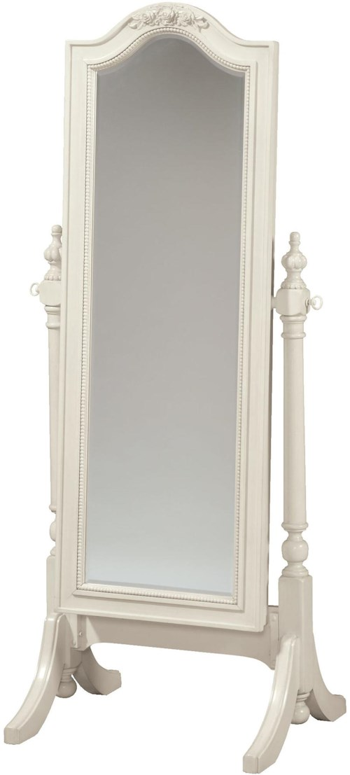 Smartstuff Gabriella Cheval Floor Mirror with Sliding Front for Accessory Storage