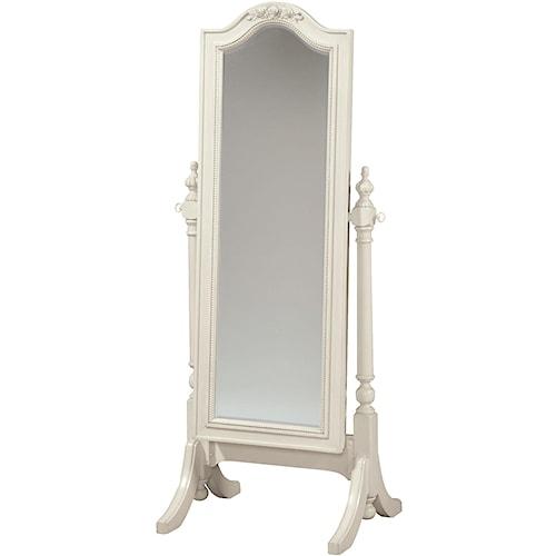 Smartstuff Gabriella Cheval Floor Mirror with Sliding Front for Accessory Storage