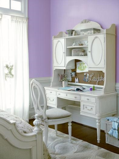 Shown with Vanity Desk and Hutch