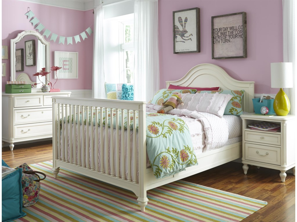 Crib can be Converted to a Full Size Bed Using Crib Headboard and Footboard with Additional Purchase of Bed Rails and Full Size Slat Roll