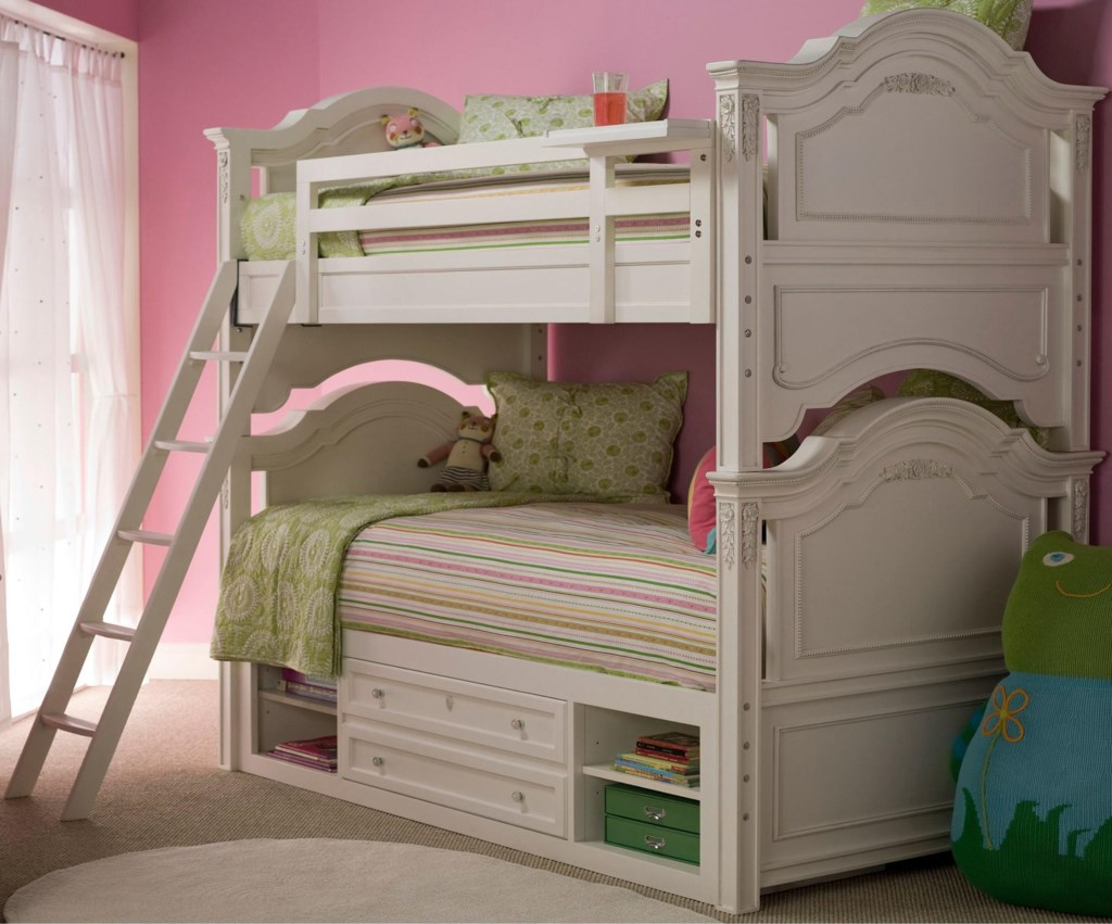 Universal Kids Smartstuff Gabriella Twin Over Twin Bunk Bed with