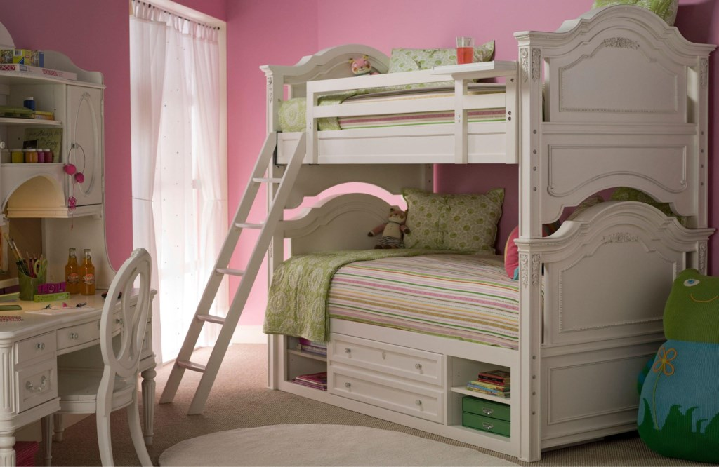 universal kids smartstuff gabriella twin-over-twin bunk bed with