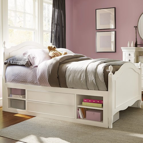 Smartstuff Genevieve Full Reading Bed with Built -In Lighting and Underbed Storage