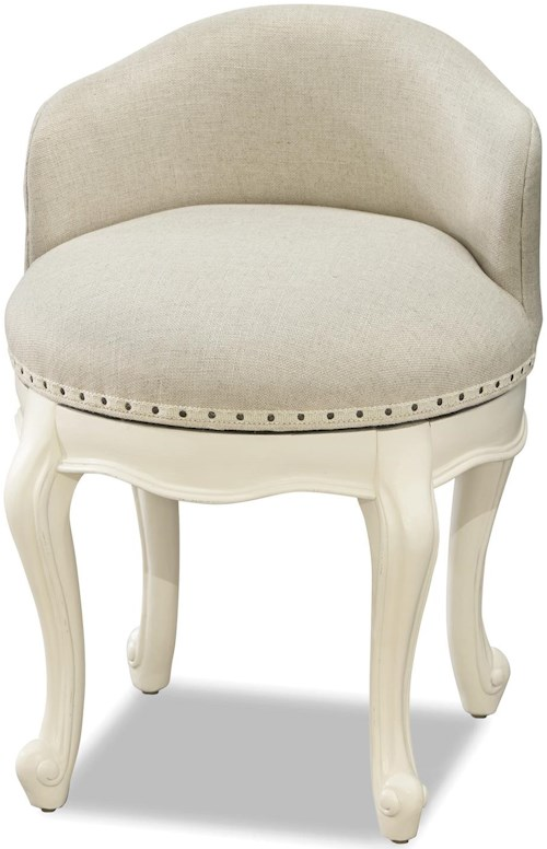 Smartstuff Genevieve Swivel Stool with Upholstered Seat