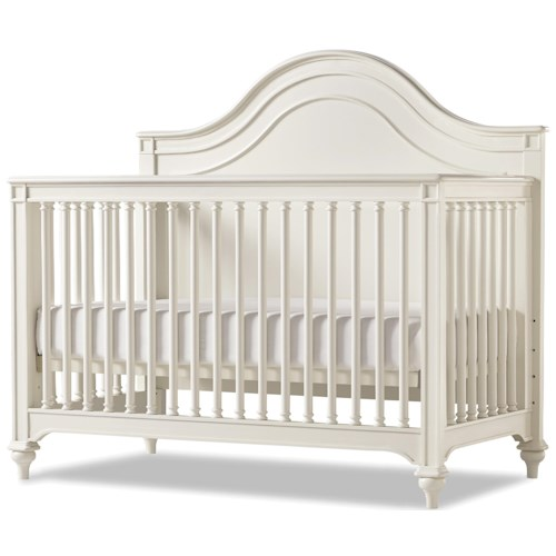 Smartstuff Genevieve Convertible Crib with Toddler Rail and Tapered Bun Feet