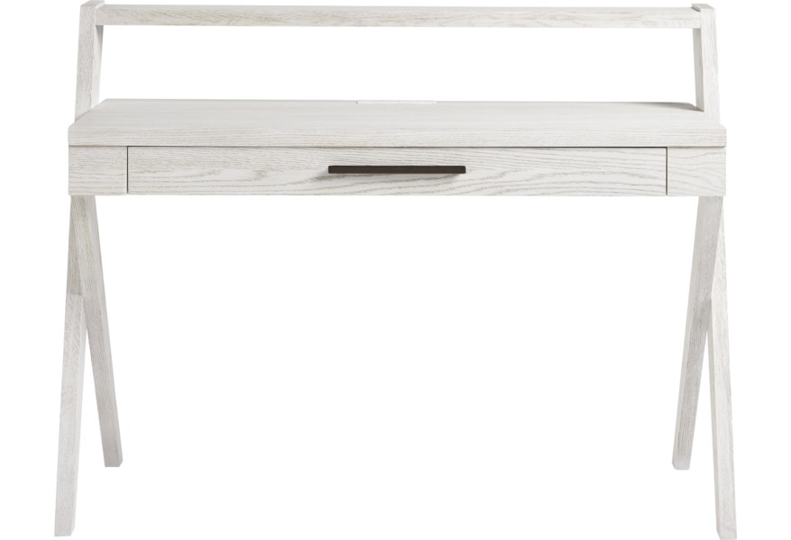Modern Spirit Contemporary Table Desk with Built-in USB / AC Outlets by  Smartstuff at DuBois Furniture