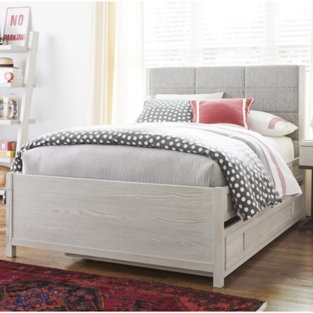 Full Complete Upholstered Bed w/ Trundle