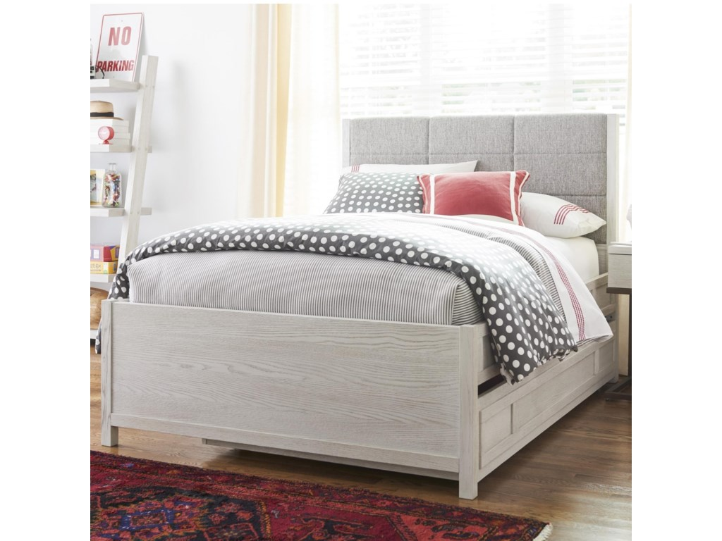 Modern Spirit Contemporary Full Size Trundle Bed With Upholstered