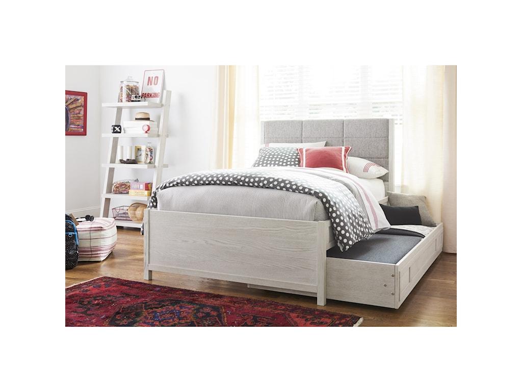Morris Home Modern SpiritFull Complete Upholstered Bed w/ Trundle