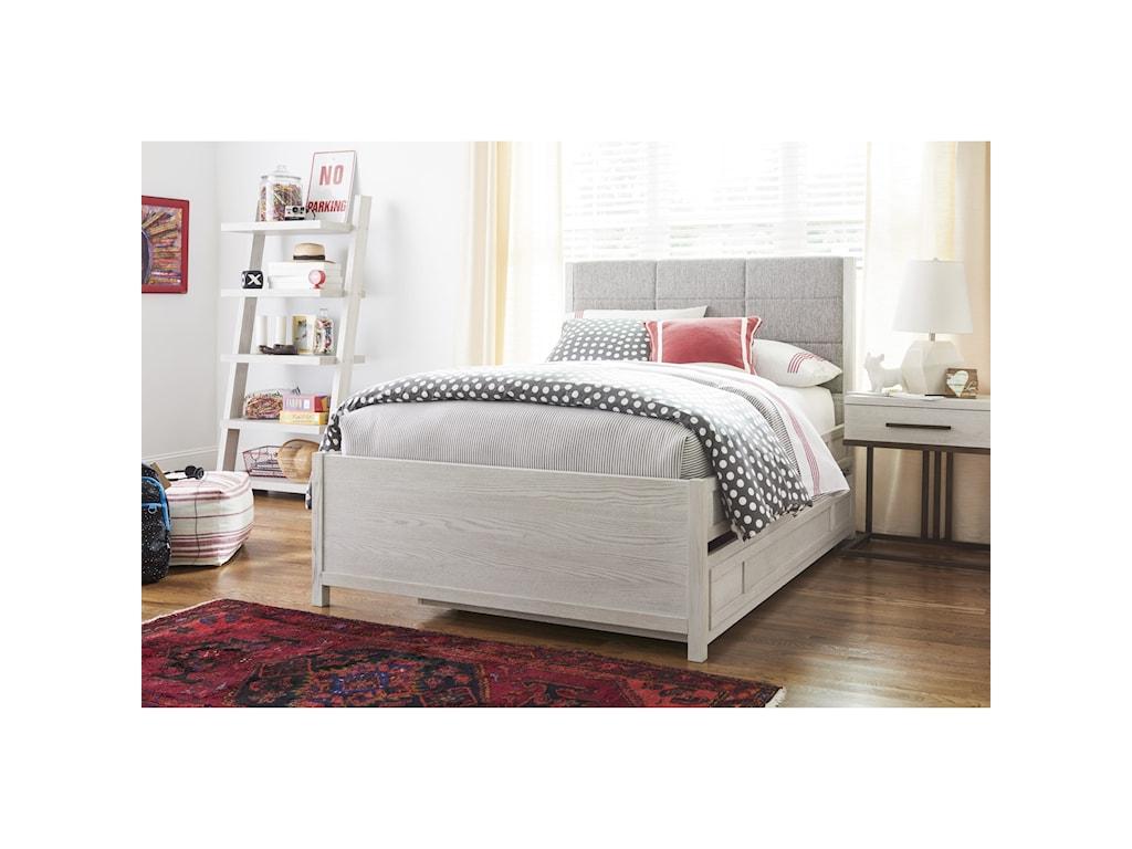 Universal Kids Smartstuff Modern SpiritFull Complete Upholstered Bed w/ Trundle