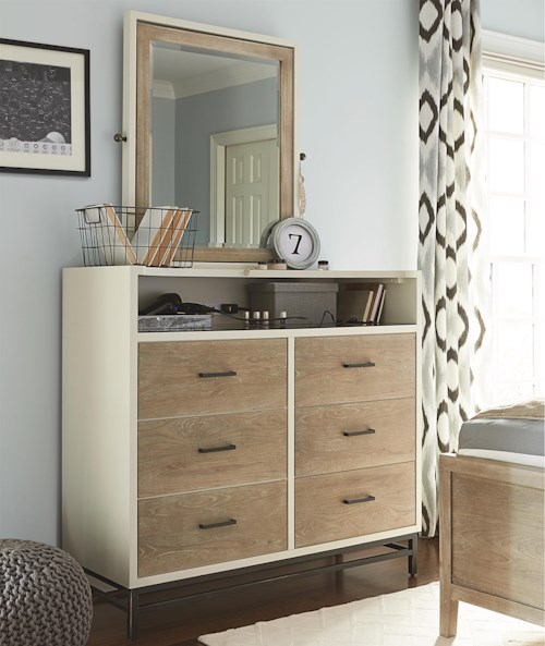 Smartstuff #myRoom 6-Drawer Dressing Chest with Tilt Mirror