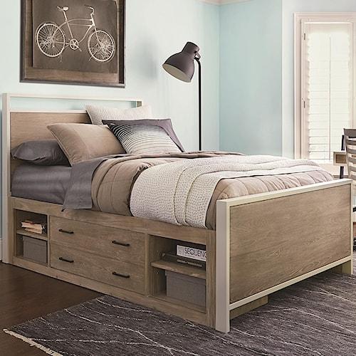 Smartstuff #myRoom Twin Panel Bed with Underbed Storage